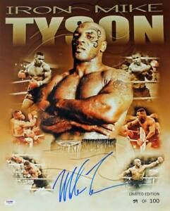 Mike Tyson Signed Authentic 16X20 Ltd Ed. Collage Photo Autographed PSA/DNA ITP