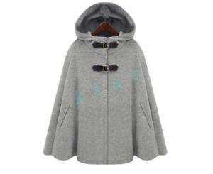 Ladies-Womens-Hooded-Winter-Wool-Coat-Cape-Trendy-cloak-Jacket-Outwear-Fashion