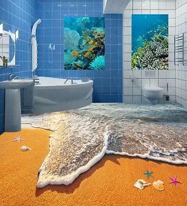 3D Twilight Beach Starfish 7 Floor WallPaper Murals Wall Print Decal 5D AU Lemon