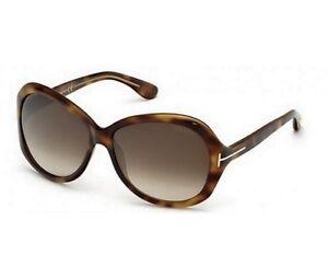Tom Ford CECILE Sunglasses Tortoise Frame Brown Lens FT171 56F 58-14 130