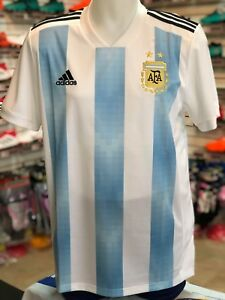 35184de3432 adidas Men's Argentina HOME SOCCER Jersey 2018 world cup MESSI ...
