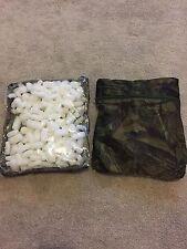 2 x Realtree Mimetico Stash Borse Con PVA Nuggets Schiuma WOTSITS Cardine carpa sciogliere
