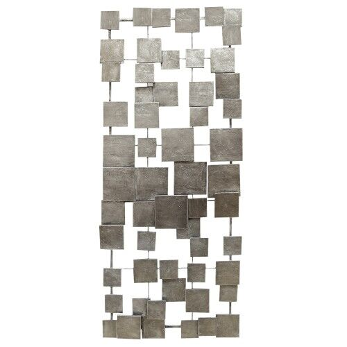 Metal Mordern Accent Tiles Hanging Interior Wall Art Home Decor