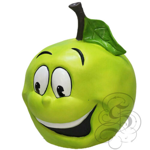 Latex Fruit Green Apple Funny Happy Face Cosplay Props Fancy Mascot Party Mask