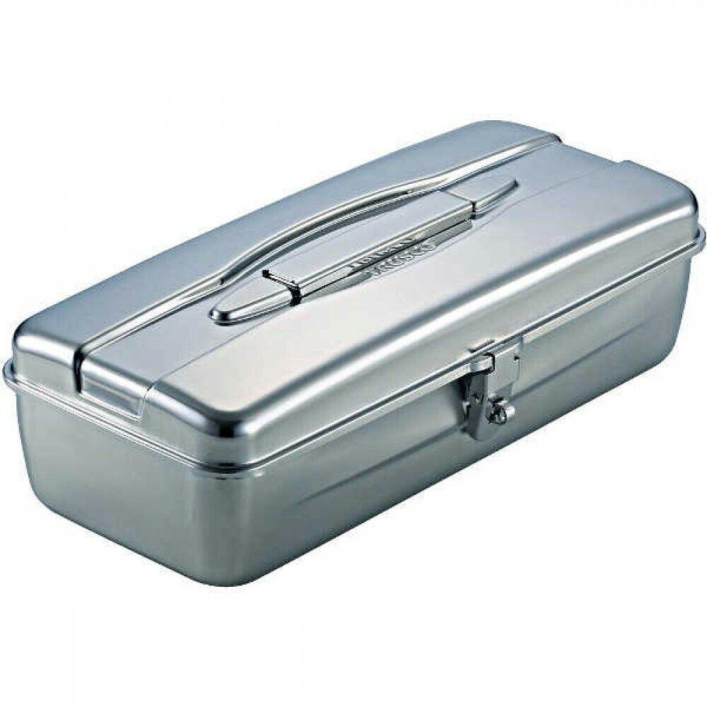 TRUSCO TSY-370 Stainless Steel Tool Box 374x16x120mm silver Japan med spårning