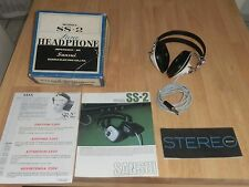 Sansui  SS-2 8 Ohm Stereo Headphones Headset + Original Box