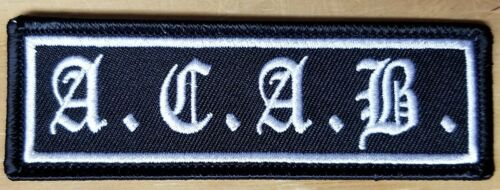Iron On- FREE SHIPPING! ALL COPS ARE BASTARDS A.C.A.B embroidered Patch