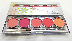 KISS BEAUTY SHADE-2 PROFESSIONAL 5 COLOR BLUSHER PALETTE NO-9747-