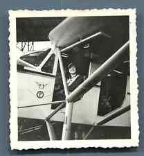 Aéro-Club de Dieppe - Avion F-AMST Vintage silver print.  Tirage argentique d&