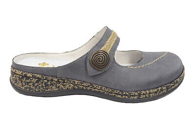 Rieker Damen Schuhe Slipper Sabot Clogs in Blau 46391 14 | eBay