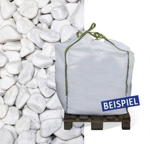 Marmorkies Zierkies Gartenkies Kies weiss Carrara 15-–25mm 600kg Big 0,40€//1kg