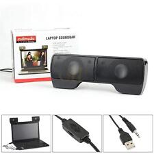 Wall-mounted External Speakers 3.5mm Hi-Fi Stereo USB Power for PC Laptops US CA