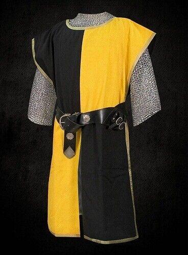 Roman Tabard Two Colored Tunic Surcoat Theatre Costume Sleeveless Halloween LARP