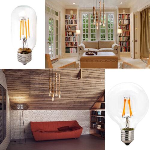 Retro E12 E27 E14 Dimmable LED Edison Bulb Light Filament Lamp Bright 4W 6W 8W