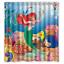 Disney Ariel The Little Mermaid Custom Print Waterproof Fabric Shower Curtain