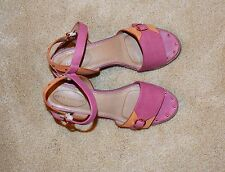 Hush Puppies HW05314-689 Womens Leather Ankle Strap Sansals Size 8.5 M