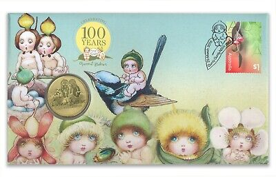 Australia 2016 May Gibbs Gumnut Babies 100th Anniv $1 Coin /& Stamp PNC Cover