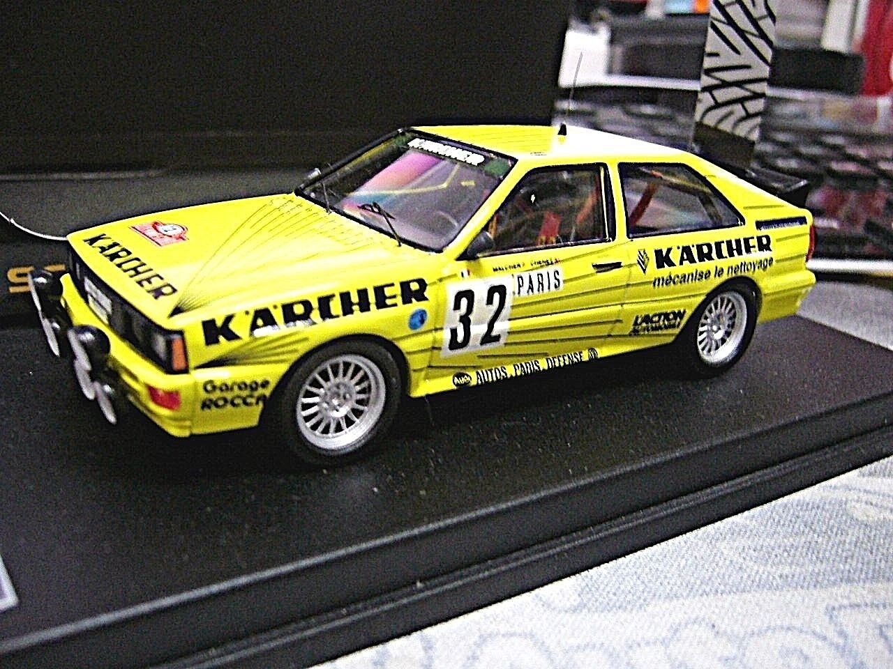 Audi Quattro Rallye WM Monte Carlo Karcher MALCHER MALCHER MALCHER  32 Chen 1 250 SCALA 43 1 43 f88527