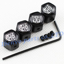 Anti-theft Black Car Wheel Tyre Tire Stem Air Valve Cap For Transformers Autobot