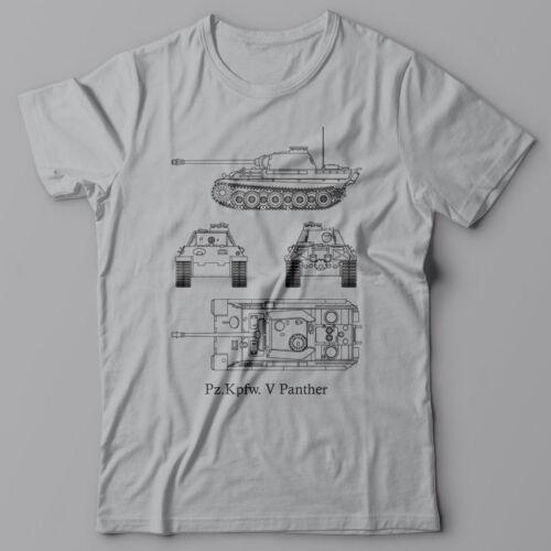 Battle Tank Kpfw-V Panther T-shirt military German WWII Tiger World of tanks