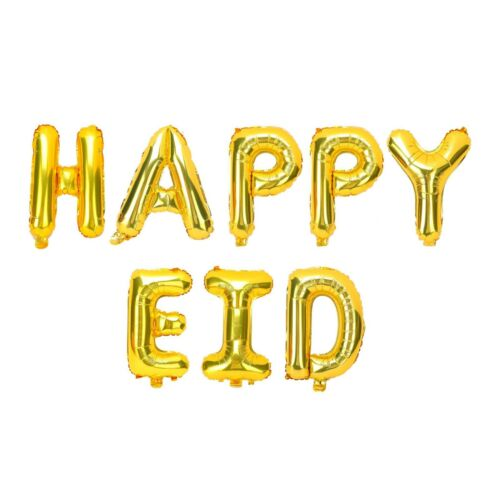Islam Happy Eid Mubarak Ramadan Foil Balloon Decorations Gold Silver Balloons