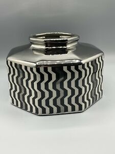 Missoni-For-Target-Black-White-Silver-Vase-Planter