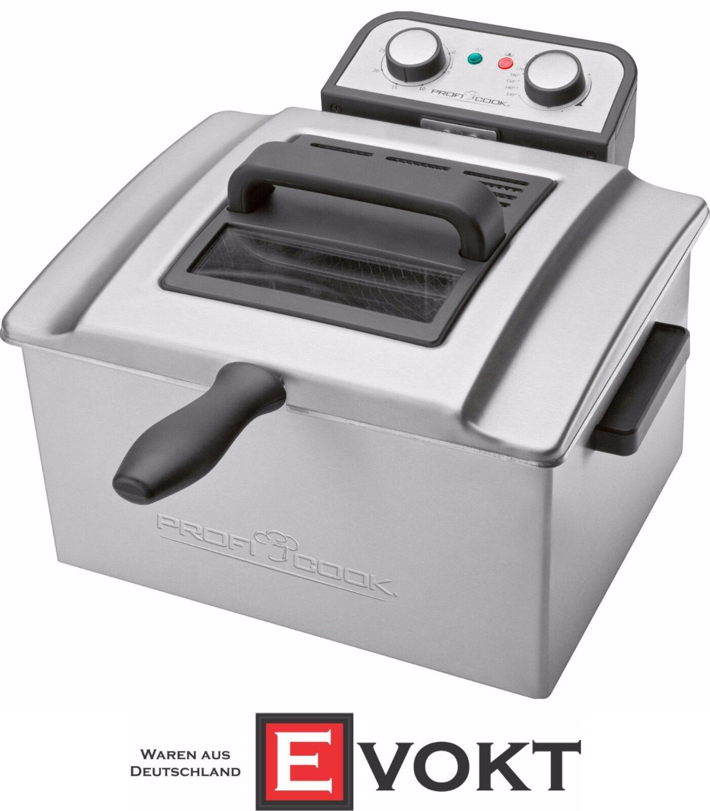 Proficook Professionnel Double Friteuse PC-FR 1038 Friteuse Inox 5 L NEUF