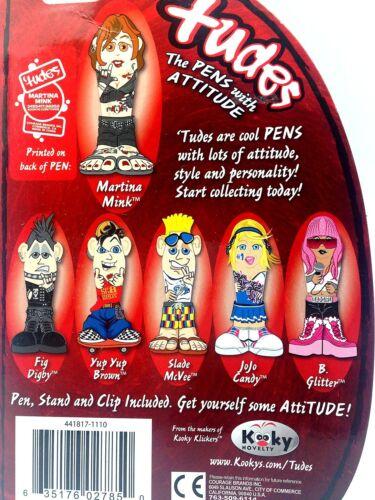 Kooky Klickers Click Pen Party Tudes Martina Mink Attitude Belt Clip Bad Girl PC