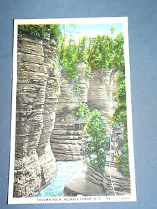 VINTAGE-COLUMN-ROCK-AUSABLE-CHASM-NEW-YORK-POSTCARD