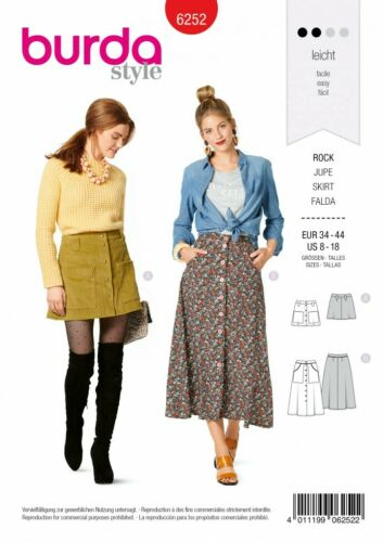 Burda Sewing Pattern 6252 Skirts 34-44