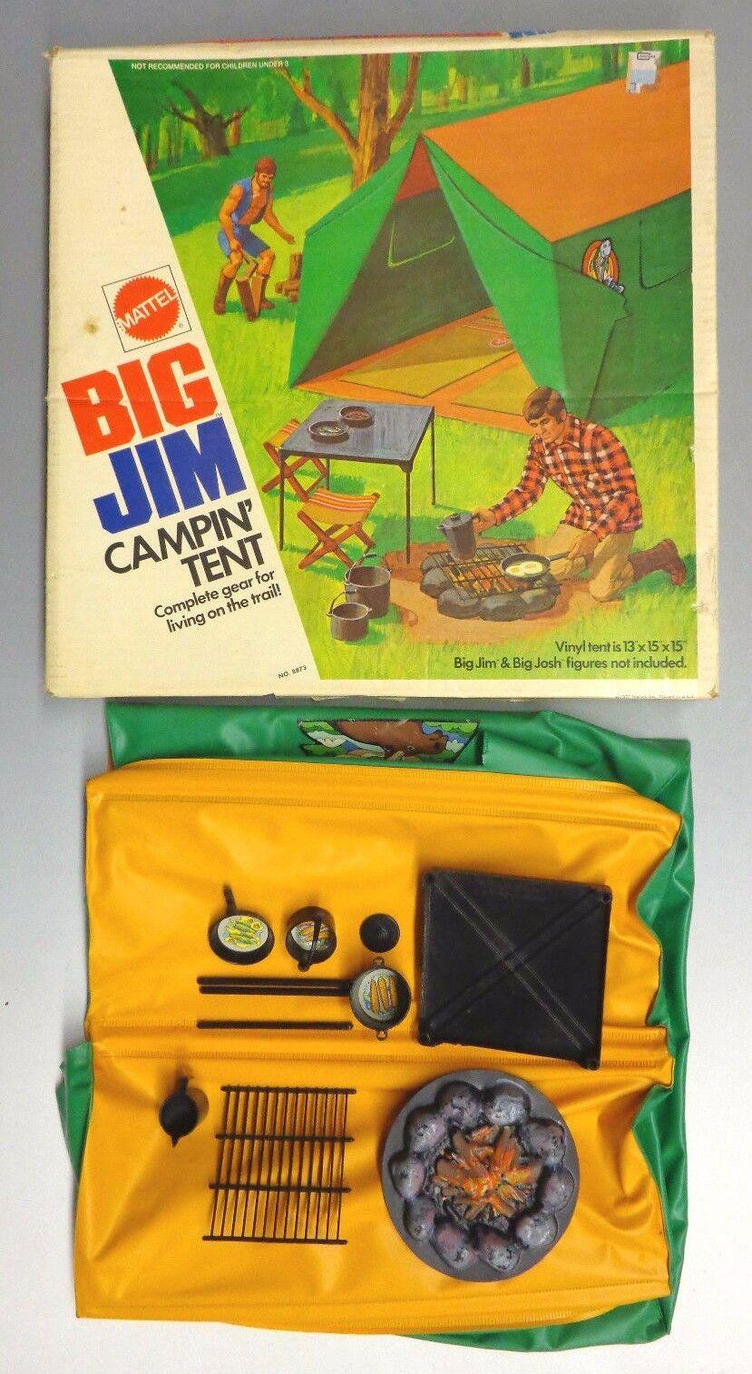 Big Jim Campin' Tent Toy by Mattel 1972 w/ Box Camping