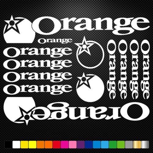 Orange Vinyl Decal Stickers Sheet Bike Frame Cycle Cycling Bicycle Mtb Road