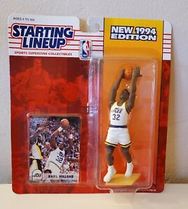 Starting Lineup KARL MALONE NBA Basketball 1994 Action Figure & Cards NEW