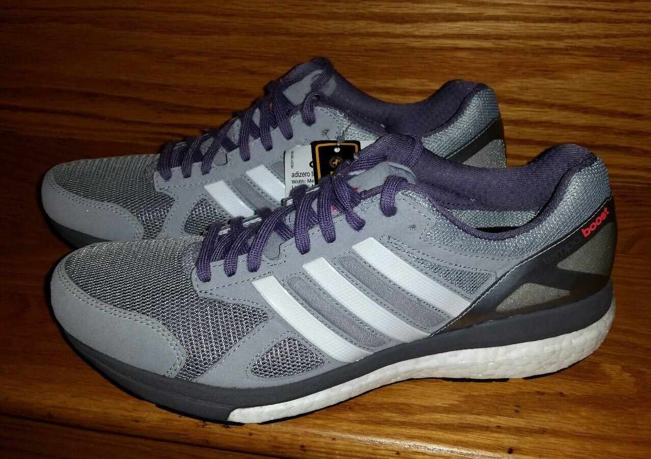 Adidas Adizero Tempo 7 Running Shoes Women's US 9.5 Grey White B22866 NEW