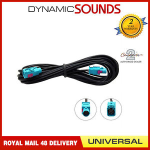 CT27AA119-In-Car-Radio-Aerial-Extension-Cable-Lead-5M-Male-Fakra-Fakra-female