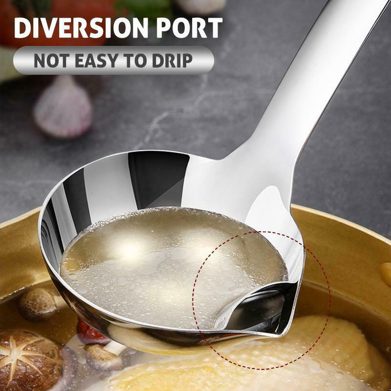 1pc Long Handle Cookware Serving Spoon Soup Spoons for Home Restaurant