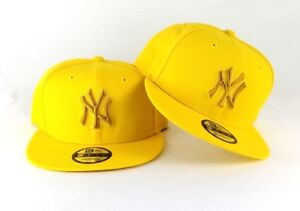 New Era MLB Yellow New York Yankees 9Fifty Snapback Hat