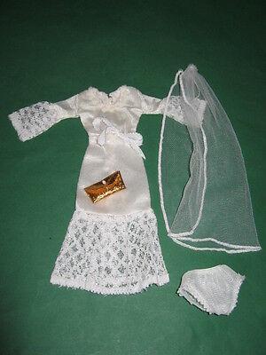 (199) Vecchia Vintage Abito Da Sposa + Velo + Borsa Barbie Petra U.a.29cm Bambole Moda-leier+tasche Barbie Petra U.a.29cm Modepuppen It-it Mostra Il Titolo Originale