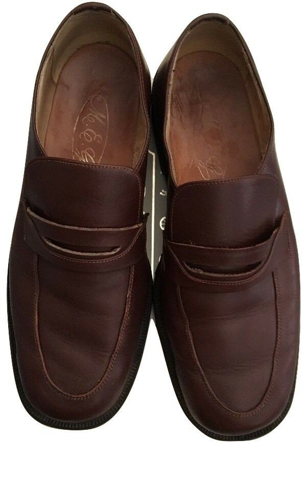 FEBO BROWN MEN'S SIZE 10 M LOAFERS SHOES