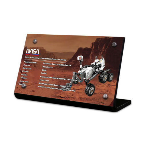 Display Plaque stand for LEGO 21104 NASA Mars Science Laboratory Rover MP96