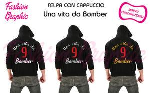 Bomber Con Una Da Personalizzabile Cappuccio Vita Uomo Felpa Numero 1xqYwU5