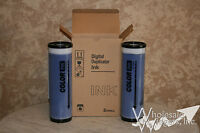 2 Compatible Riso Blue Inks Risograph Gr, Ra, Rc, Fr, Rp Series Color Duplicator