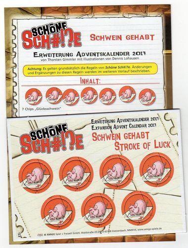 Eng//Ger Brettspiel Advent Calendar PROMO #13 Stroke of Luck Schöne Sch#!?e