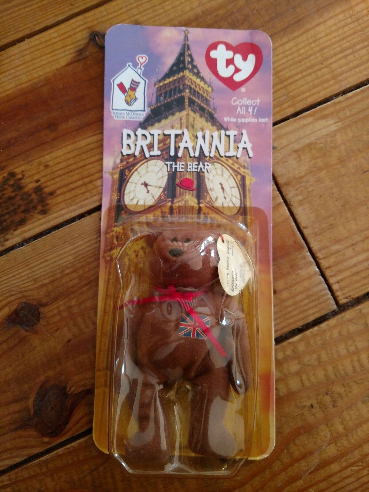 Rare Both Errors - Mcdonalds TY Beanie Baby Britannia The Bear New Sealed RARE
