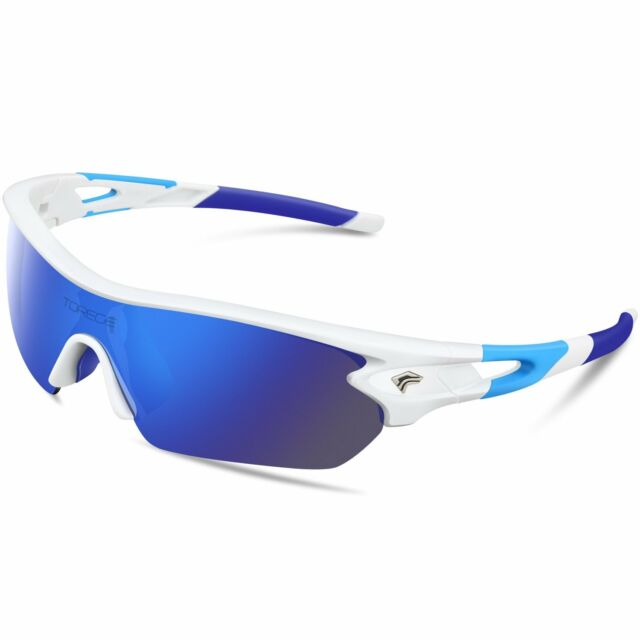 97f1e9677db Frequently bought together. TOREGE Polarized Sports Sunglasses With 5  Interchangeable Lenes for Men Women
