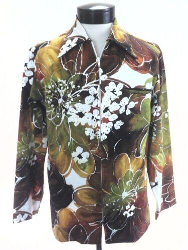 TORI RICHARD Vintage 70s Hawaiian Dress Shirt Flor