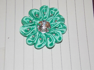 lilac jewel flower 4.5cm kids children glue on Sew on Applique Motif Patch trim
