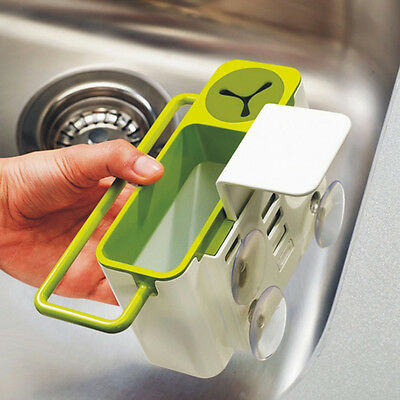 New Practical Kitchen Sink Brush Tools Suction Cup Storage Box Holder
