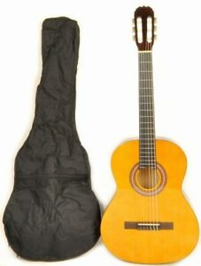 38-034-Full-Size-Left-Handed-Classical-Acoustic-Guitar-w-Carry-Bag-Class-Kit-1-NA