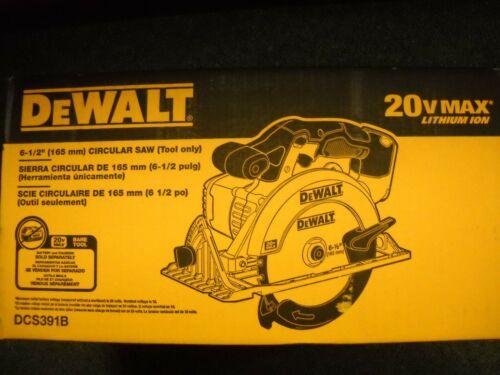"""DeWalt DCS391B 20-Volt Cordless 6 1//2/"""" Circular Saw DCS391 NEW"""